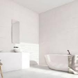 bañera blanca